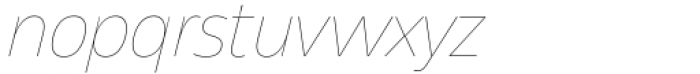 Asgard Thin Italic Font LOWERCASE