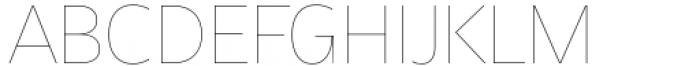 Asgard Thin Font UPPERCASE