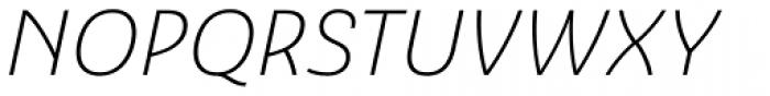 Ashemore Normal Light Italic Font UPPERCASE