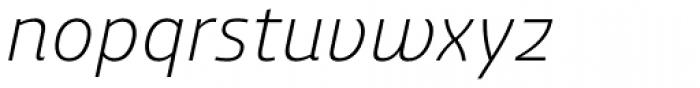 Ashemore Normal Light Italic Font LOWERCASE