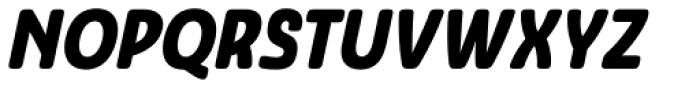 Ashemore Softened Condensed Black Italic Font UPPERCASE