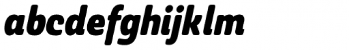 Ashemore Softened Condensed Black Italic Font LOWERCASE