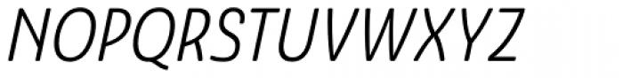 Ashemore Softened Condensed Italic Font UPPERCASE