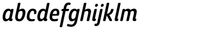 Ashemore Softened Condensed Medium Italic Font LOWERCASE
