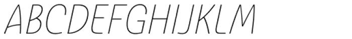 Ashemore Softened Condensed Thin Italic Font UPPERCASE