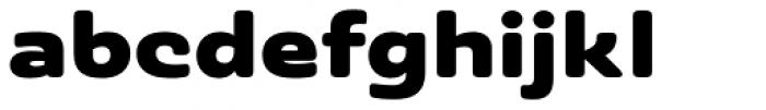 Ashemore Softened Ext Black Font LOWERCASE