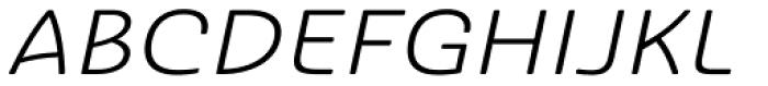 Ashemore Softened Ext Italic Font UPPERCASE