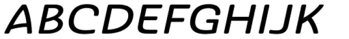 Ashemore Softened Ext Medium Italic Font UPPERCASE