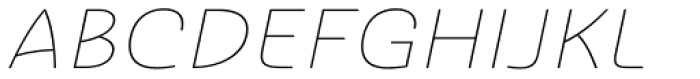Ashemore Softened Ext Thin Italic Font UPPERCASE