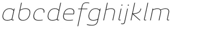 Ashemore Softened Ext Thin Italic Font LOWERCASE