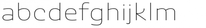 Ashemore Softened Ext Thin Font LOWERCASE