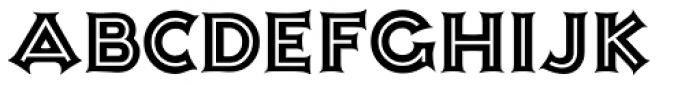 Ashley Inline Font LOWERCASE