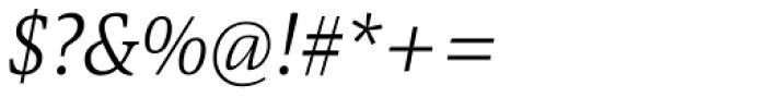 Askan Slim Light Italic Font OTHER CHARS