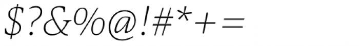 Askan Thin Italic Font OTHER CHARS
