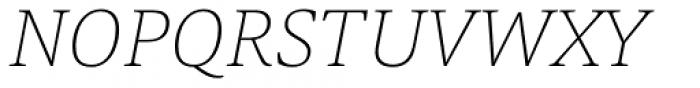 Askan Thin Italic Font UPPERCASE