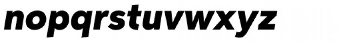 Aspira Black Italic Font LOWERCASE