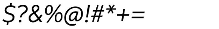 Aspira Italic Font OTHER CHARS