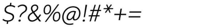 Aspira Light Italic Font OTHER CHARS