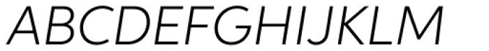 Aspira Light Italic Font UPPERCASE