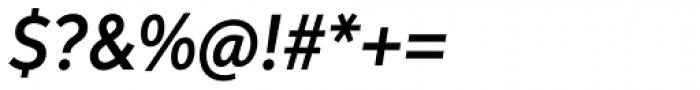 Aspira Nar Demi Italic Font OTHER CHARS