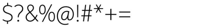 Aspira Nar Thin Font OTHER CHARS