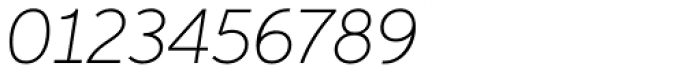 Aspira Thin Italic Font OTHER CHARS