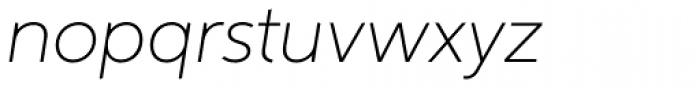 Aspira Thin Italic Font LOWERCASE