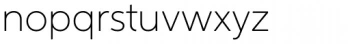 Aspira Thin Font LOWERCASE