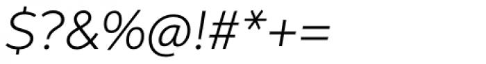 Aspira Wide Light Italic Font OTHER CHARS