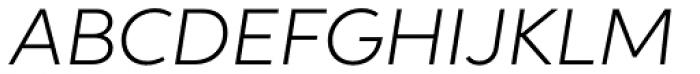 Aspira Wide Light Italic Font UPPERCASE