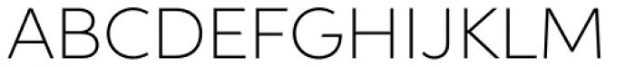 Aspira Wide Thin Font UPPERCASE