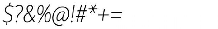 Aspira XNar Thin Italic Font OTHER CHARS