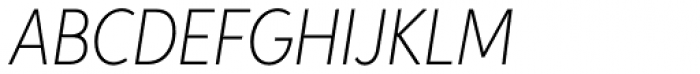 Aspira XNar Thin Italic Font UPPERCASE