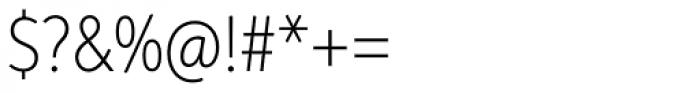 Aspira XNar Thin Font OTHER CHARS