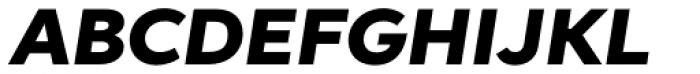 Aspira XWide Black Italic Font UPPERCASE