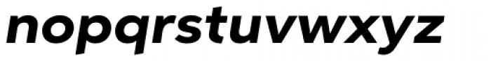 Aspira XWide Heavy Italic Font LOWERCASE