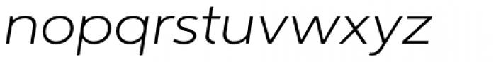Aspira XWide Light Italic Font LOWERCASE