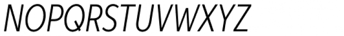 Aspira XXNar Light Italic Font UPPERCASE
