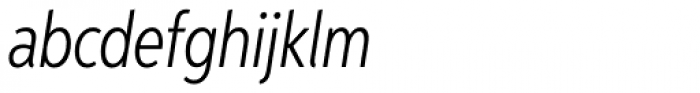 Aspira XXNar Light Italic Font LOWERCASE