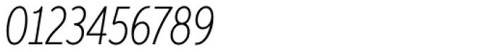 Aspira XXNar Thin Italic Font OTHER CHARS
