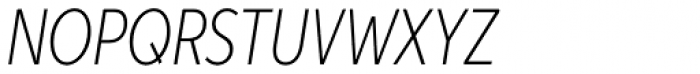 Aspira XXNar Thin Italic Font UPPERCASE