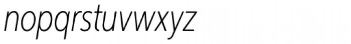 Aspira XXNar Thin Italic Font LOWERCASE