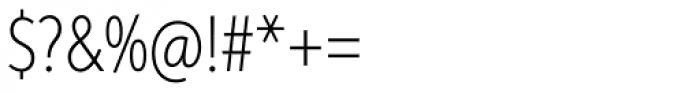 Aspira XXNar Thin Font OTHER CHARS