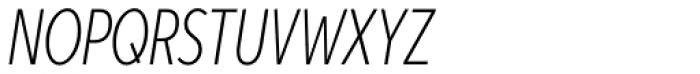 Aspira XXXNar Thin Italic Font UPPERCASE
