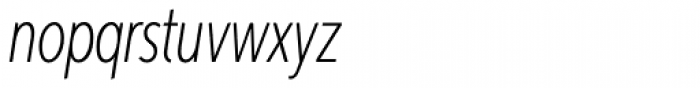 Aspira XXXNar Thin Italic Font LOWERCASE
