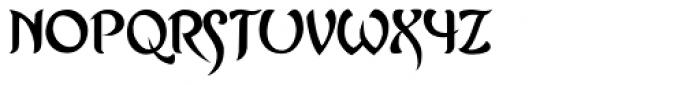 Asrafel Font LOWERCASE