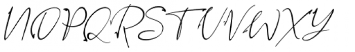 Assinatura Italic Font UPPERCASE