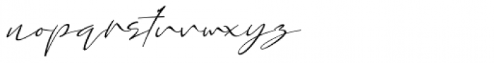 Assinatura Italic Font LOWERCASE