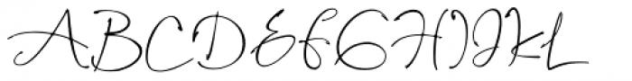 Assinatura Regular Font UPPERCASE