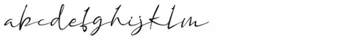 Assinatura Regular Font LOWERCASE